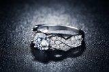 De Trouwringen van de manier voor de Ring van de Juwelen van de Diamant van het Witgoud van Vrouwen