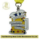 Medaglia nichelata di carnevale, medaglione del premio del ricordo