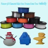filament en plastique 1.75/3mm de PLA de l'imprimante 3D pour l'impression 3D