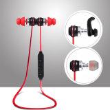 Fone de ouvido estereofónico de Bluetooth dos auriculares do esporte sem fio de Handfree com magnético
