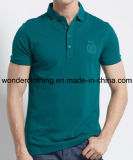 Les hommes faits sur commande de coton de mode vendent la chemise en gros de polo