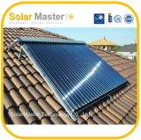 Capteur solaire de vide avec le caloduc