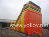 面白い方法PVC防水シートの膨脹可能な娯楽スライド
