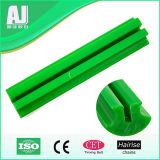 Dos componentes resistentes do transporte da abrasão trilho de guia plástico da garganta