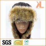 耳の折り返しが付いている100%年のポリエステルタフタ及び人工毛皮のUshankaの冬の帽子