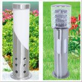 IP65 9W 600mm 알루미늄 볼러드 LED 태양 잔디밭 빛