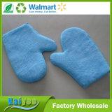 Микро- перчатки чистки автомобиля большого пальца руки волокна с желтой синью стороны