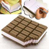 Qualitäts-Schokolade geformtes weiches PVC-Abdeckung-Notizbuch (NB-001)