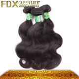 大きく標準的で加工されていない100%の人間の毛髪の織り方(FDX-YY-KBL)