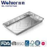Подносы еды алюминиевой фольги прямоугольника круглого угла/Takeaway контейнеры фольги