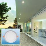 Projector do diodo emissor de luz/luz de painel redonda cor dobro