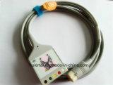 Cavo medico del circuito di collegamento ECG del video 12pin Snap&Clip 5