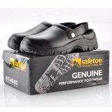 Zapatos de seguridad médicos con el negro de acero del casquillo L-7096 de la punta