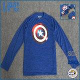 슈퍼 영웅 Breathable 주문 형식에 의하여 인쇄되는 면 t-셔츠