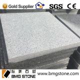 Tuiles de pierre de cube en pierre de galet du granit G603 pour des machines à paver de passage couvert