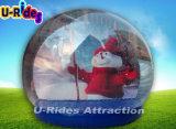 Globo gonfiabile della neve di natale per fare pubblicità