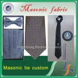 Legame massonico della cravatta di seta su ordinazione del Mens