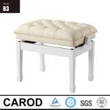 白い純木のピアノベンチ