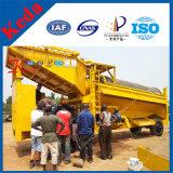 Beweglicher Goldförderung-Maschinen-Trommel-Bildschirm für Goldwäsche-Pflanze