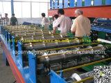 Folha cor telhado de aço vitrificado rolo telha formando máquina