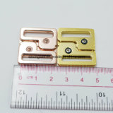 Пряжка бюстгальтера способа золотистая цветастая малая для вспомогательного оборудования нижнего белья