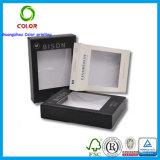Caja de presentación plegable barata del calcetín de la impresión con la percha