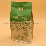 Sachet en plastique stratifié par papier d'aliment pour animaux familiers avec le papier d'aluminium