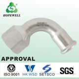 Inox de calidad superior que sondea el acero inoxidable sanitario 304 tubo apropiado de la plomería del tubo del codo de 316 prensas tasa la junta de tubo