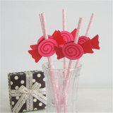 Pajas de beber de papel de la etiqueta colorida del caramelo de la categoría alimenticia de la alta calidad