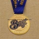Изготовленный на заказ самый лучший чемпионат медали резвится медаль с тесемкой