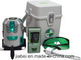 La alta precisión de la viga verde recargable cinco líneas pone verde el nivel del laser (4V1H1D) disponible con el receptor