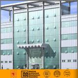 Mur en verre en aluminium caché et exposé de Cutain