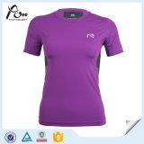 紫色のTシャツの圧縮の衣類の圧縮の摩耗