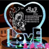 Décoration en cristal en forme de coeur personnalisée de métier de faveur de mariage d'impression de couleur