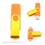 Disco de destello del USB del eslabón giratorio colorido de encargo de OTG para el regalo