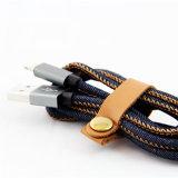 Cable trenzado del USB del dril de algodón del relámpago de Mfi para la transmisión de datos y la carga de la potencia