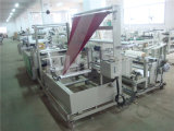 Sealing laterale Plastic Garment Bag Making Machinery con Folding