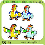Cartoon Design (RC-R06)のCustomized自由なPVC Fridge Magnets Rooster Gifts