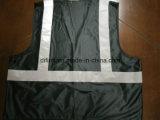 Sicurezza Vest Bright Black 100%Polyester Knitting Fabric