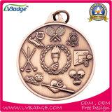 Медаль спорта нового серебра золота конструкций латунное изготовленный на заказ