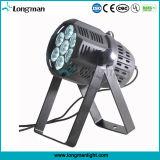 7 * 15W Osram LED PAR de haz de luz (haz puntiagudo 46)