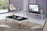 Мебель 2016 комнаты самомоднейшей нержавеющей стали Европ стеклянная домашняя живущий