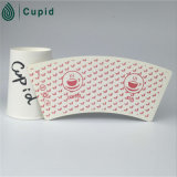 Tailles de tasse de PE de tasse de nature de Hztl diverses de papier de ventilateur de feuille jetable enduite de papier