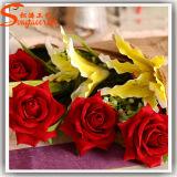 Flor Handmade decorativa artificial de Rosa do metal do estilo original
