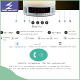 Luz da mesa do diodo emissor de luz da música com altofalante de Bluetooth
