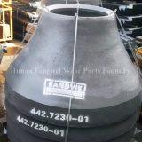 El alto desgaste de la trituradora del cono del manganeso parte la capa de la guarnición