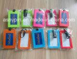 Type adapté aux besoins du client étiquette de valise d'étiquette de forme de valise de bagage