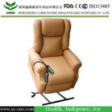 A potência reclina e levanta a cadeira