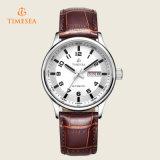 男性用日および日付の自動革腕時計72260