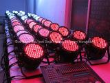 a PARIDADE impermeável ao ar livre do diodo emissor de luz de 54X3w RGB 3in1 pode iluminar-se